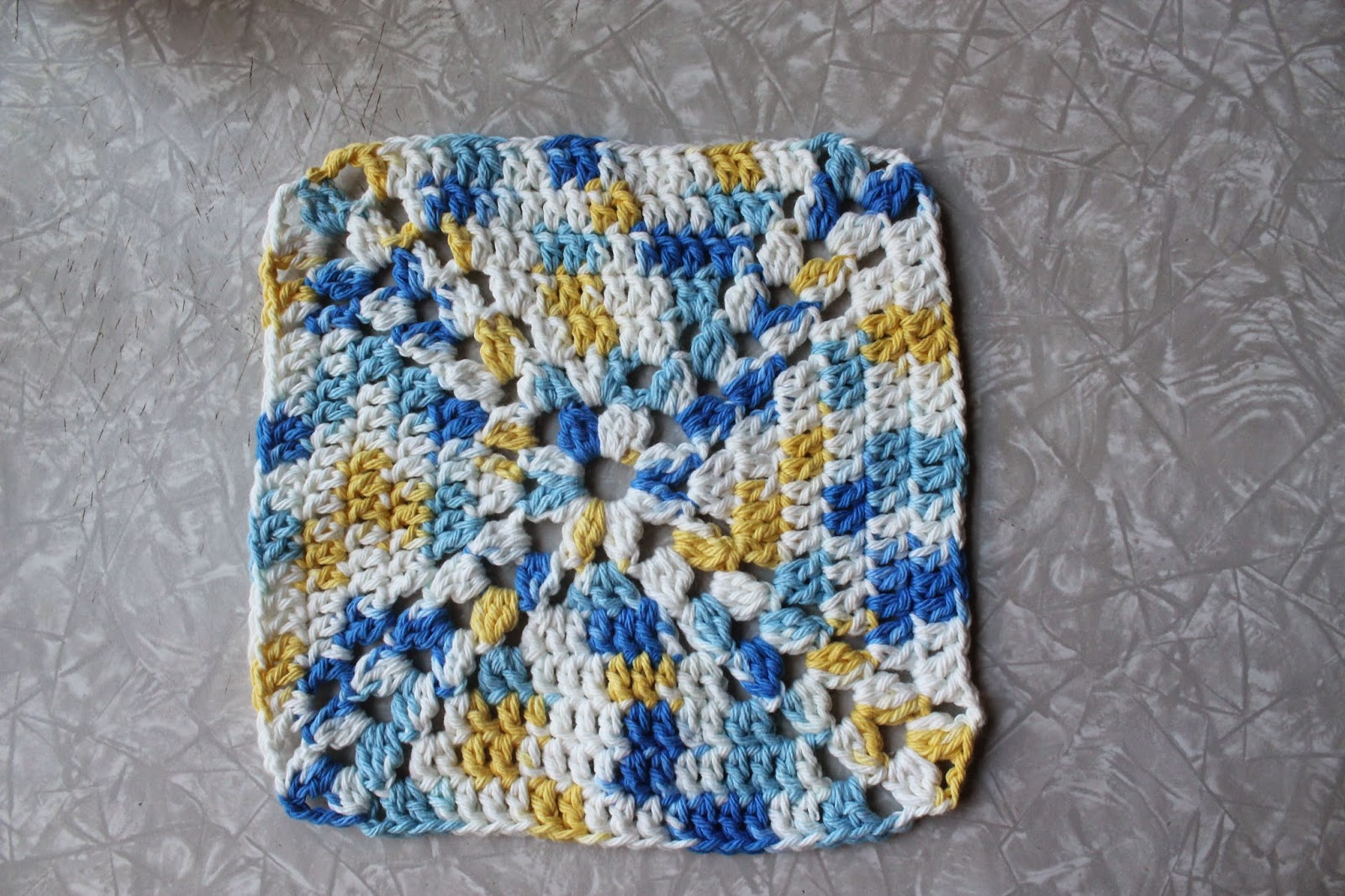 Crochet Granny Square Dishcloth Pattern : Everyday Life at Leisure: Weekly Dishcloth: Crocheting a ...