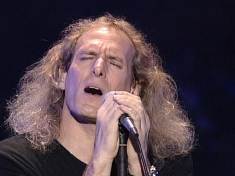 that was once long enough to go into a ponytail - Michael Bolton Christmas