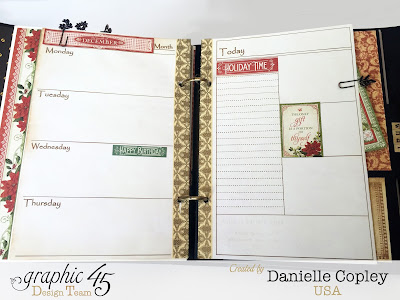 Planner love with Graphic 45 mixed media album and Steampunk Debutante and Botanicabella