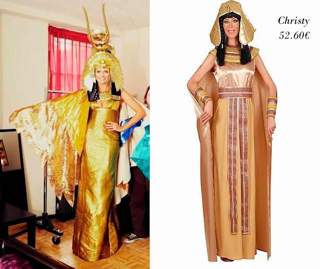 Heidi Klum disfrazada de Cleopatra y disfraz de Cleopatra de Christy
