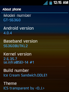 Upgrade Samsung Galaxy Y Android 2.3.6 To 4.0.4(ICS) Version - www