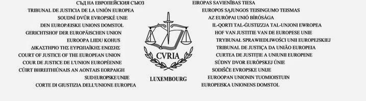 Logotipo del Tribunal de Justicia de la Unión Europea
