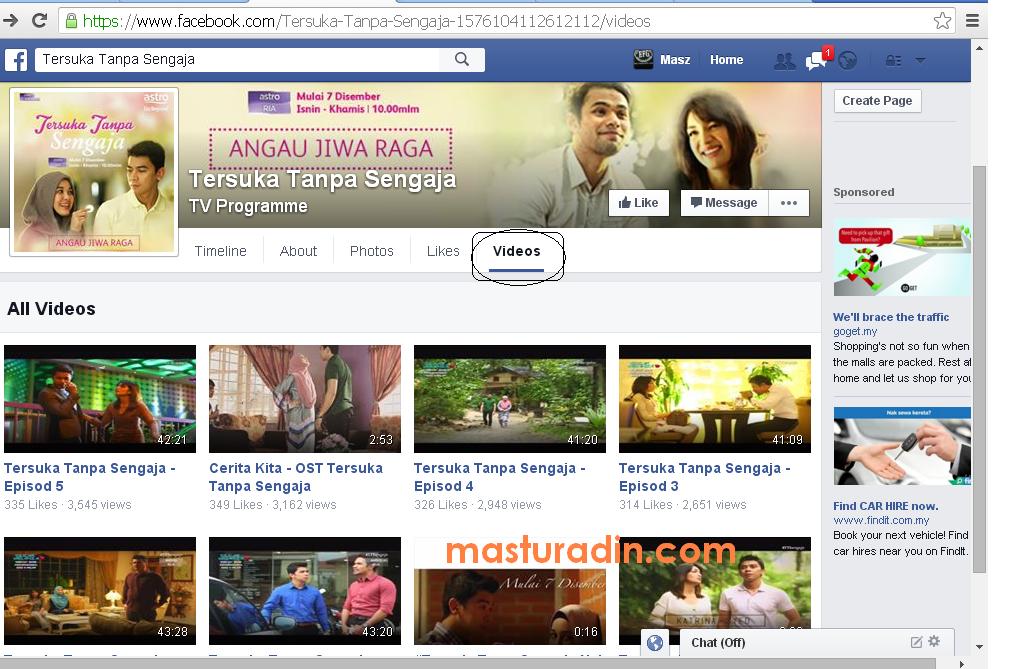 cara save video dari facebook, tersuka tanpa sengaja, episod 5, step, tutorial