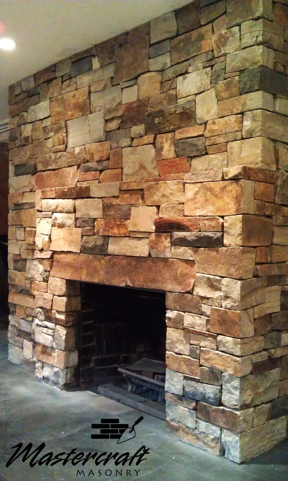 a south bay quartzite fireplace in a private residence in new york