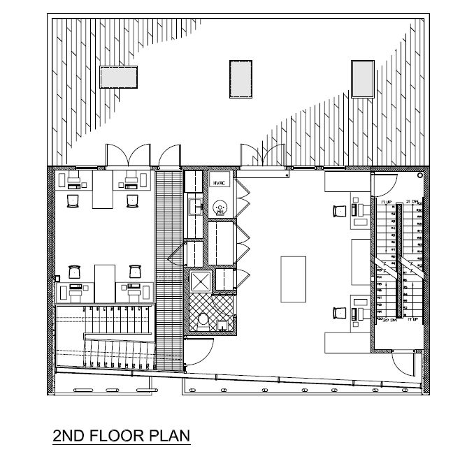 Exceptional 2nd Floor Plan  Drawing © Courtesy Of Minervini Vandermark Architecture Photo Gallery