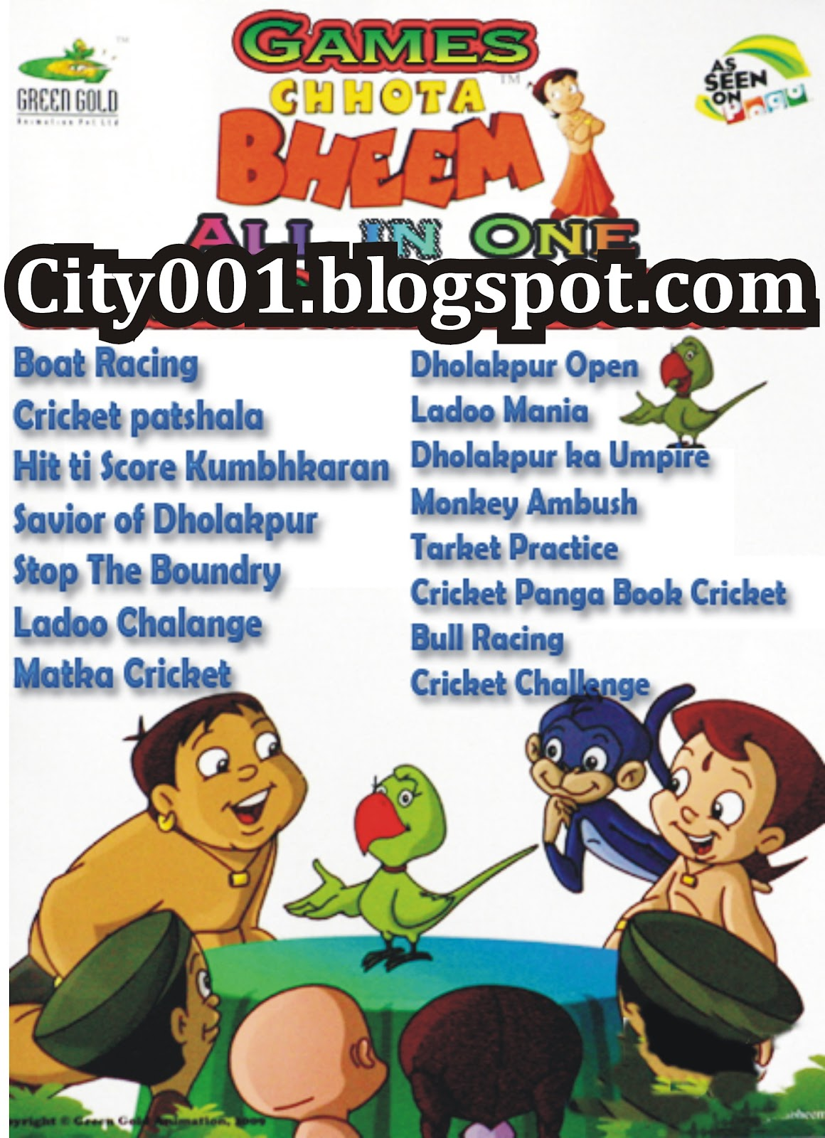Chota Bheem ALL PC Game Free Download