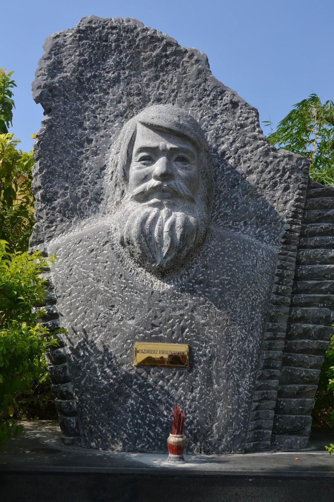 Statue of Kazimierz Kwiatkowski  in old town, hoi an