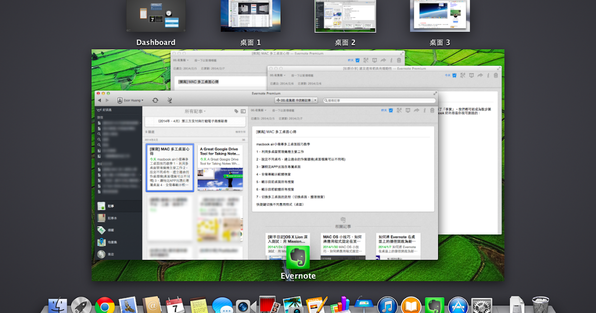 [Mac 新手日記]筆電小螢幕也能多工作業的桌面切換技巧教學