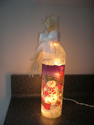 Maison newton make a wine bottle light without drilling for Wine bottle crafts for sale