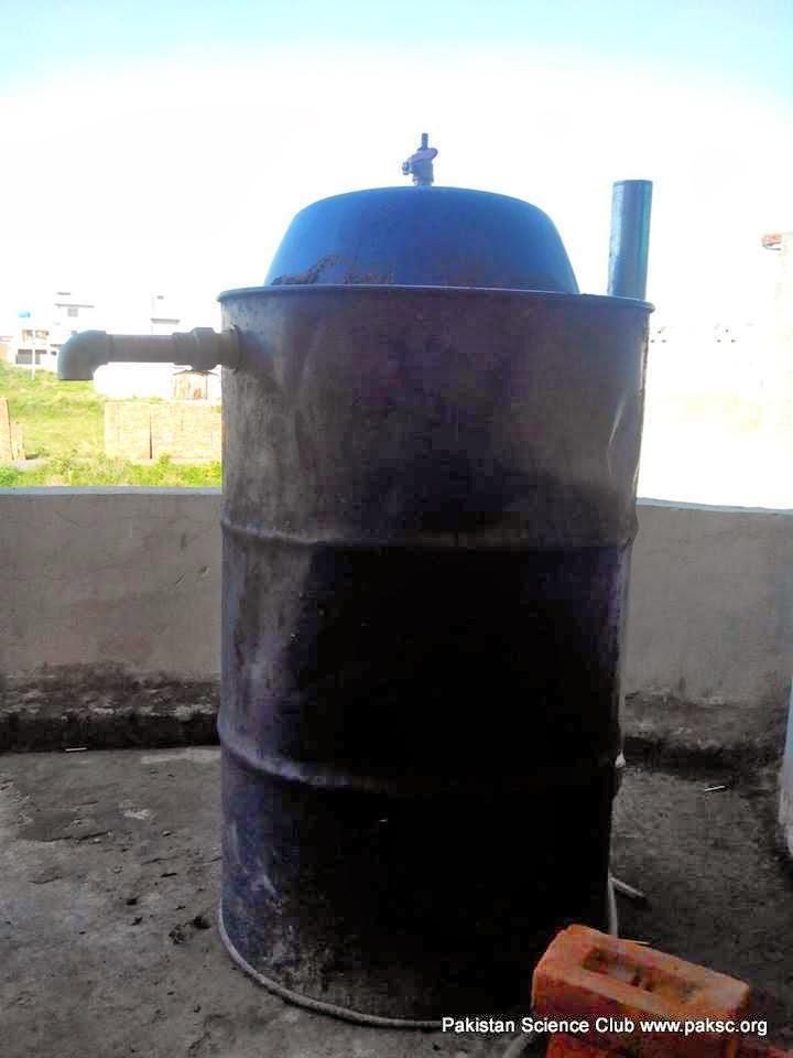 Homemade portable Biogas Digester photos - STEM Activities