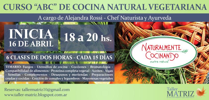 Taller matriz curso abc de la cocina natural vegetariana y ayurveda - Temario curso manipulador de alimentos ...