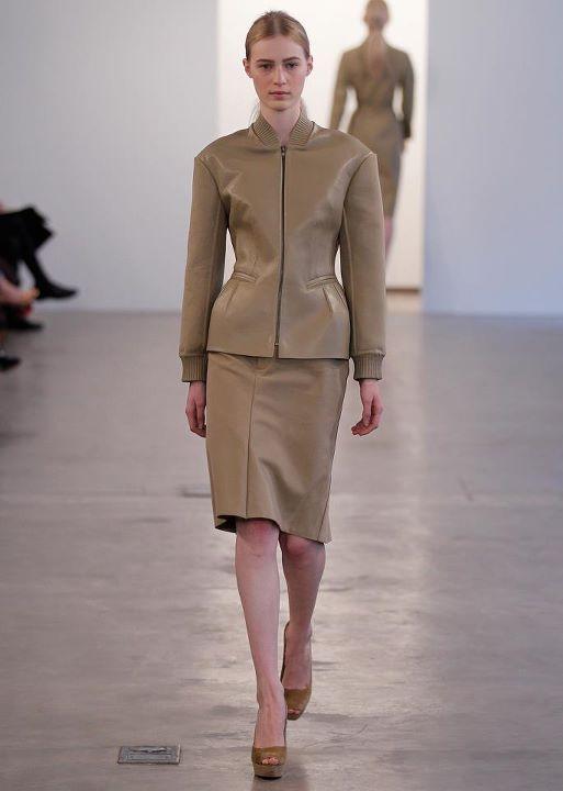 Calvin Klein khaki bonded silk nightie