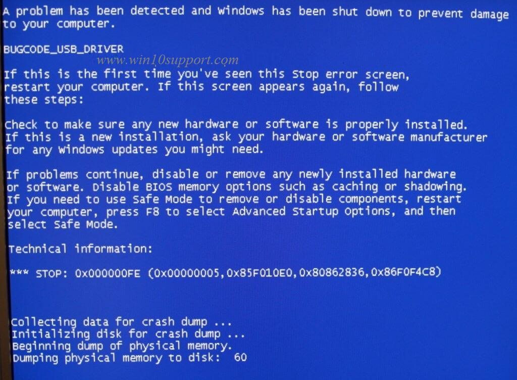 blue screen of death fix drivers