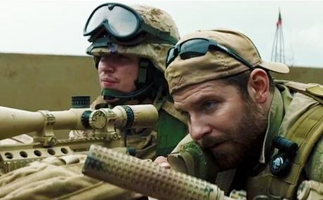 "Bradley Cooper as Chris Kyle in ""American Sniper."" (Credit: Warner Brothers)"