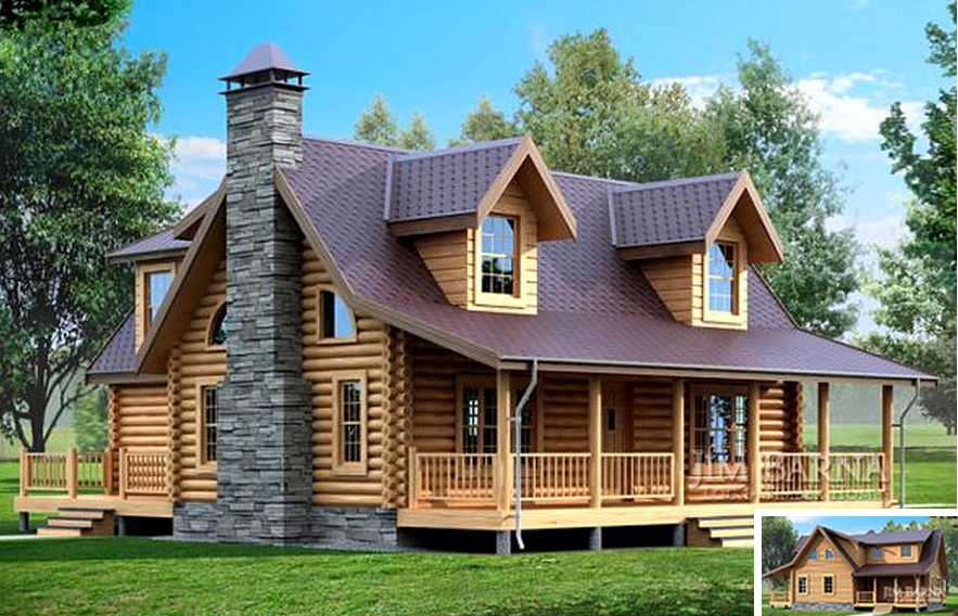 Beautiful round timber house timber frame houses - Three wooden house plans ...