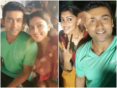 selfie of surya and amala paul in haiku