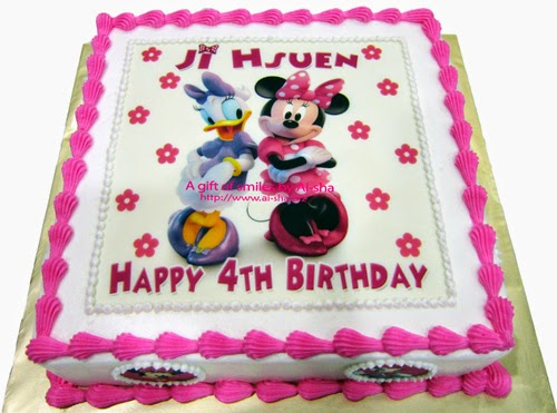 Birthday Cake Minnie Mouse and Daisy Duck