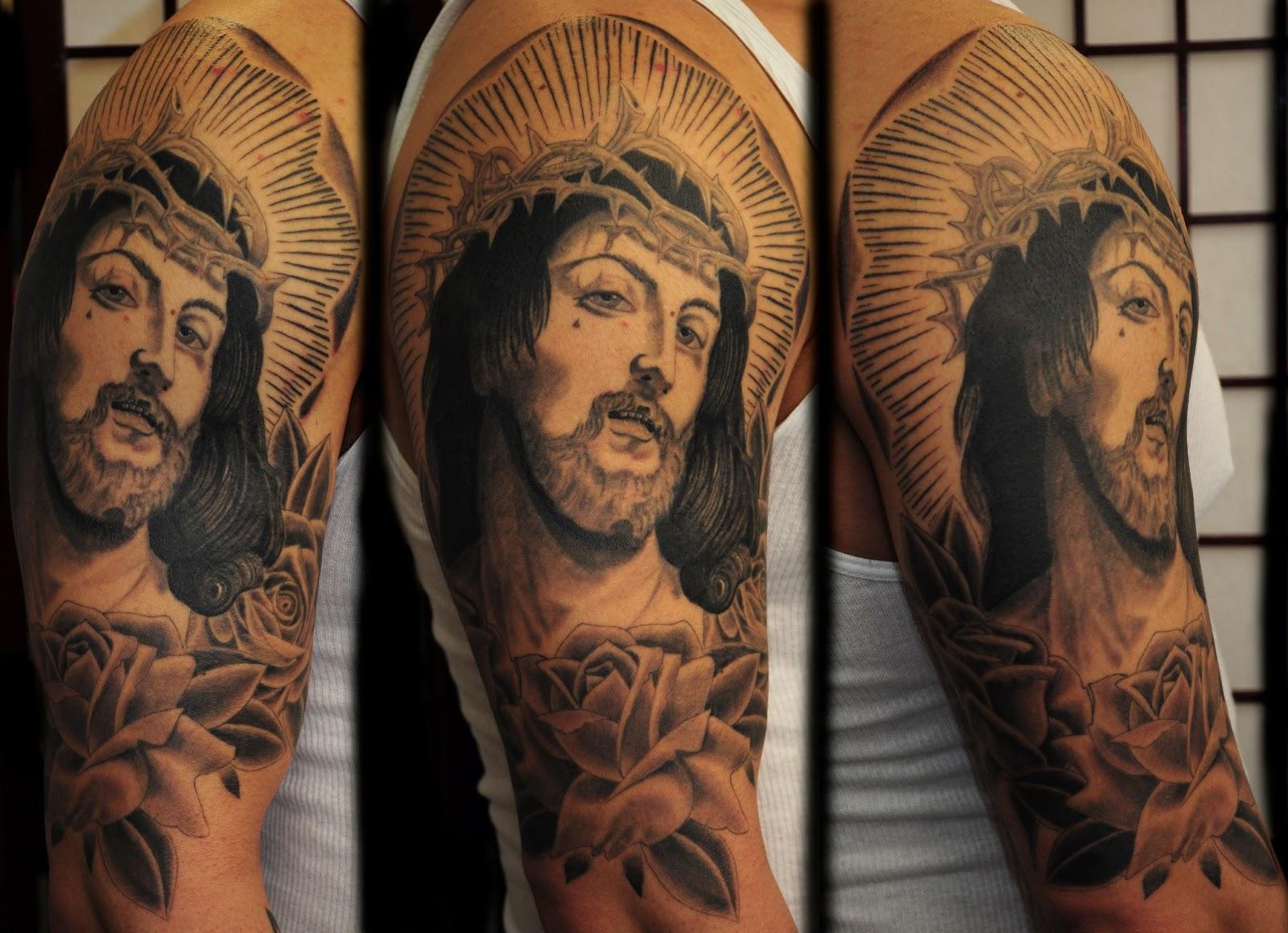 clawtattoos jesus tattoo i did