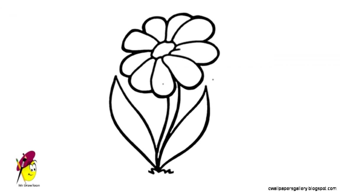 Simple Flower   Drawing   How to draw Flower   Very Easy   YouTube