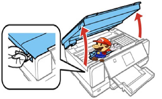 Paper Mario paper jam scanner printer photocopier machine Xerox Mario & Luigi Nintendo