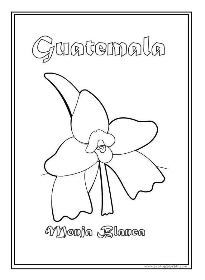 dibujos para colorear Guatemala | Colorear dibujos infantiles