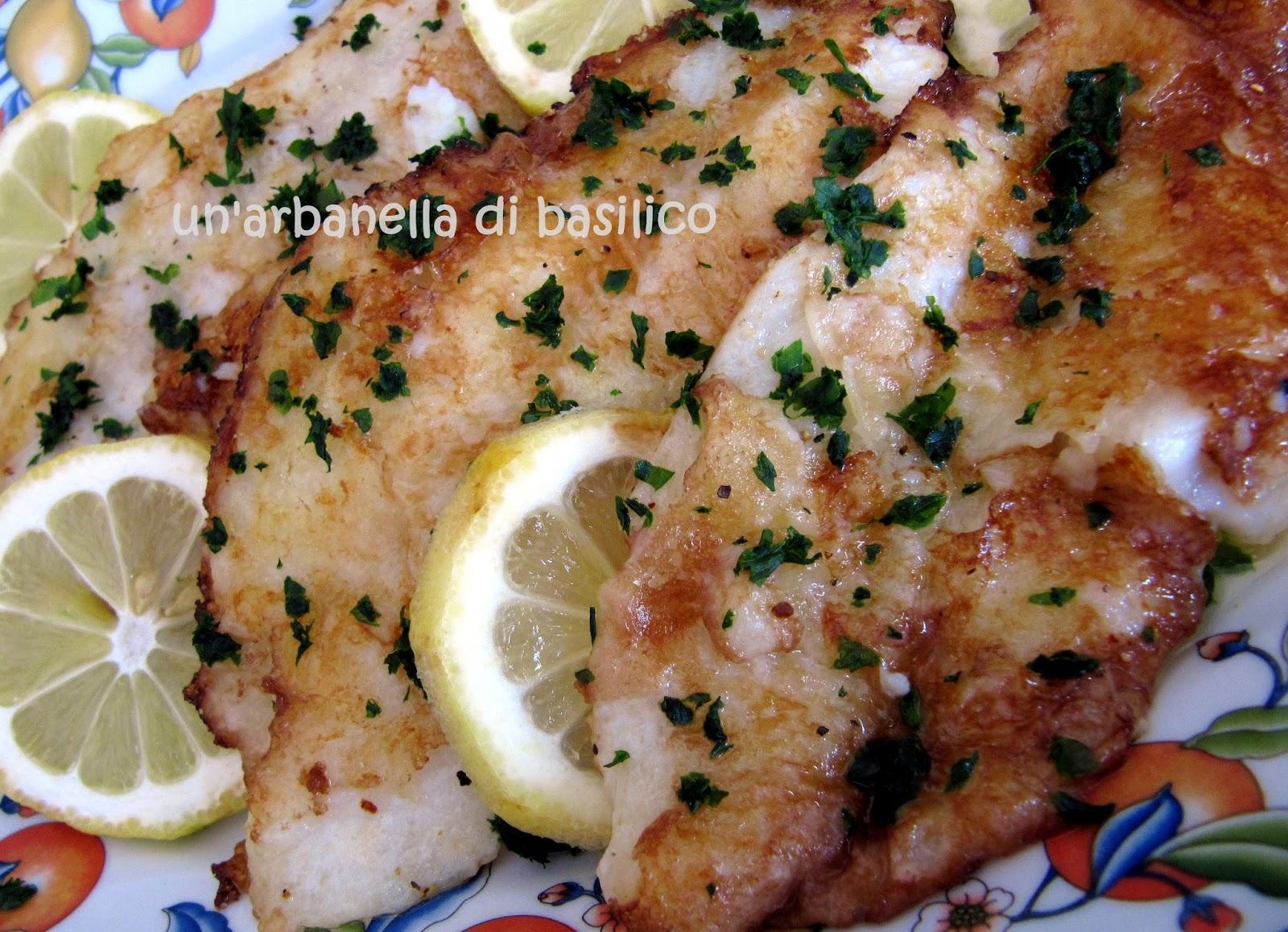 un'arbanella di basilico: Filetti di pesce persico alla Munière ...