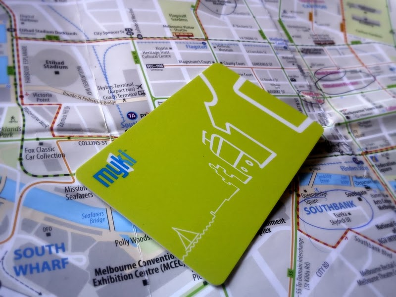 Myki card - ticket to tram in Australia