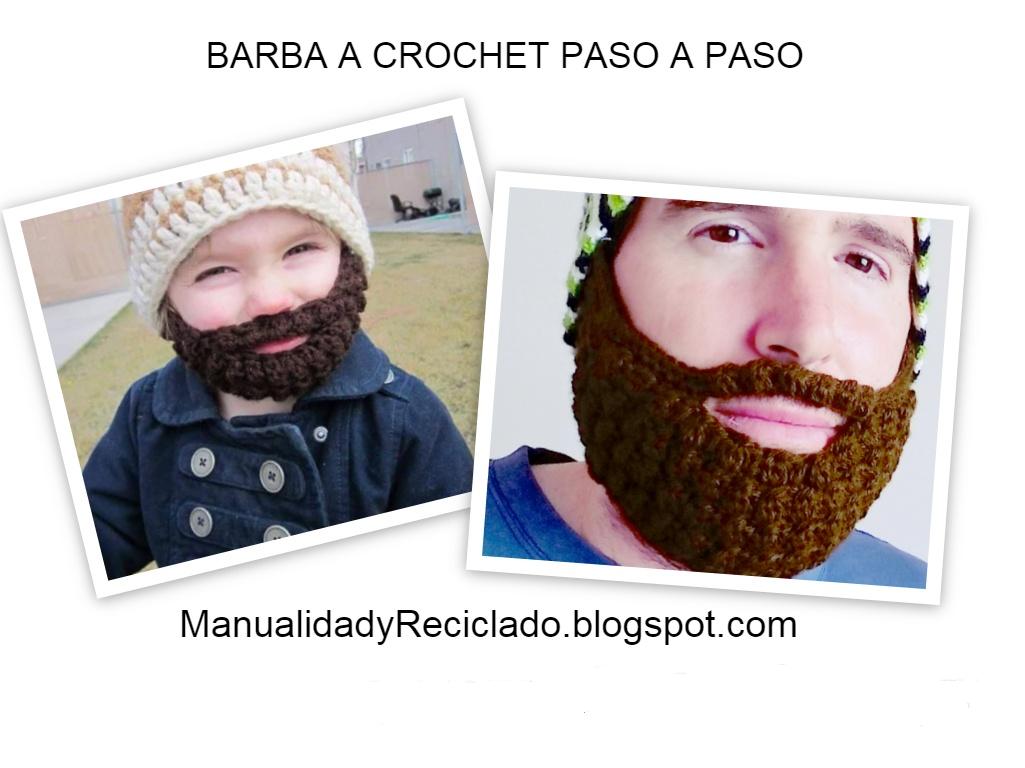 COMO HACER BARBA A CROCHET (GANCHILLO) PASO A PASO | Patrones ...