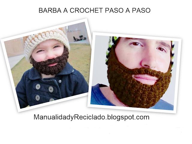 COMO HACER BARBA A CROCHET (GANCHILLO) PASO A PASO