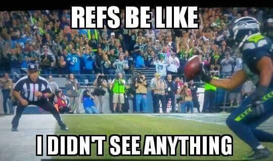 #seahawks #seahawkshaters #nfl #KJWright #illegalbat.- refs be like, I didn't see anything