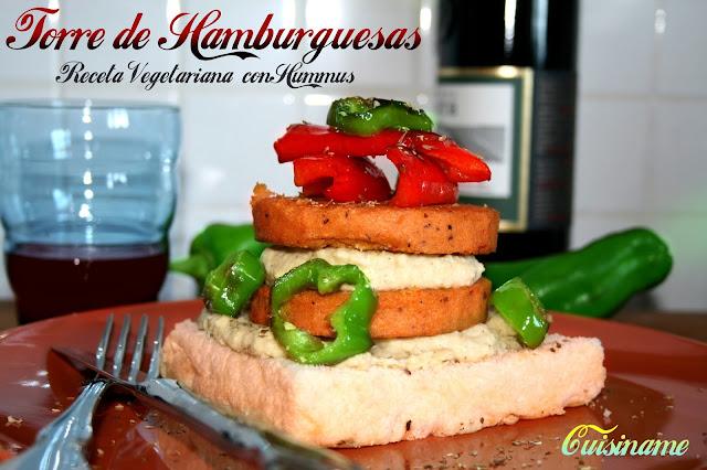 recetas vegetarianas, hamburguesas, verduras, recetas originales, pimiento, hamburguesas vegetales, hummus, recetas de cocina, blog cocina, humor, gastronomía