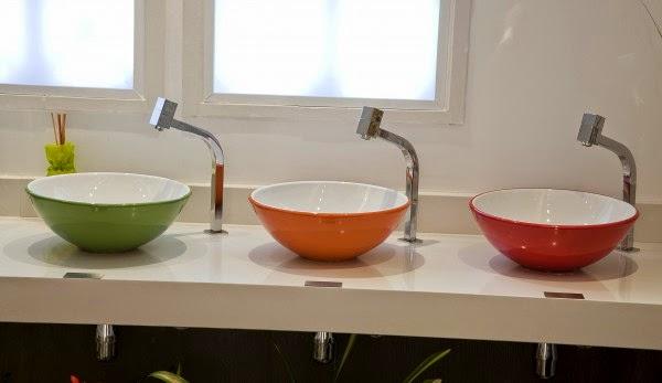 Teia Design Cubas para Lavabos, Banheiros com dicas da Teia Design -> Cuba De Sobrepor Para Banheiro Eternit Seattle
