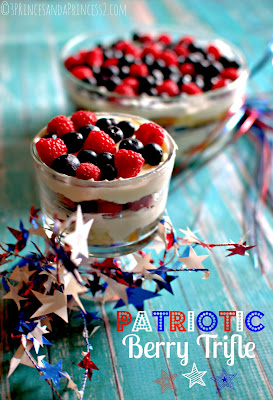Patriotic Berry Trifle #Recipe