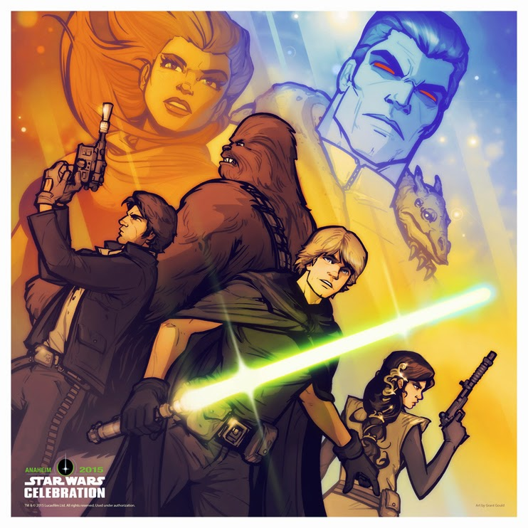 Dark Ink Art's Star Wars Celebration 2015 Exclusive Prints - The Legend of Thrawn Print by Grant Gould