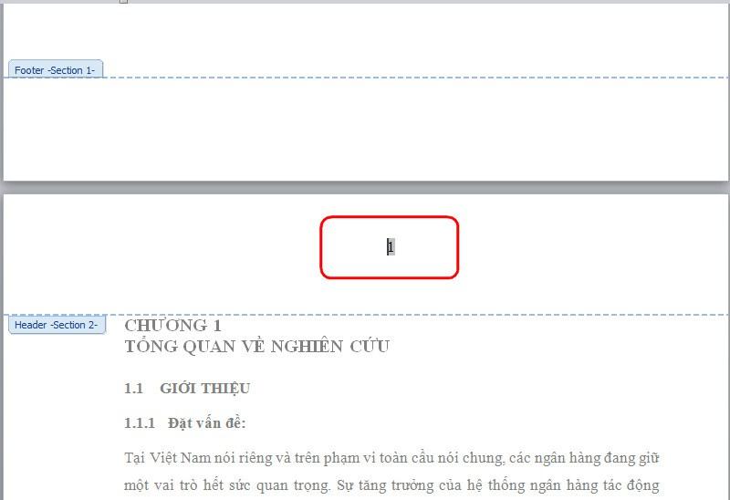 Office tips Cách đánh số trang trong Word bắt đầu từ phần nội dung Chương 1