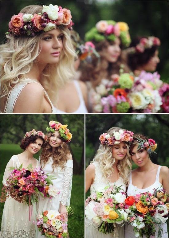 rustic spring floral headpieces