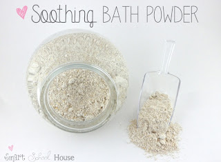 DIY Soothing Bath Powder by Smart School House #diy #eczema