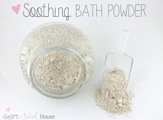 DIY Soothing Bath Powder by Smart School House #diy #eczema