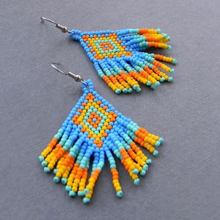 купить этнические украшения сережки украина анабель