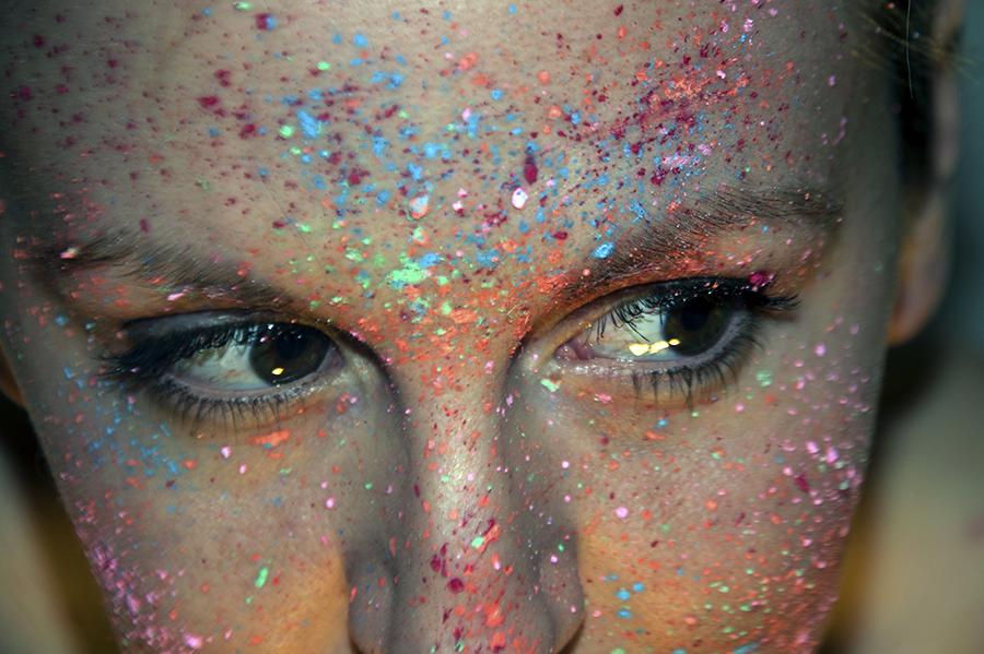 For Peet's Sake blog colorful paint splatter girl face