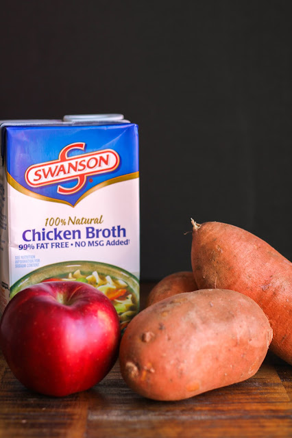 Sweet Potato and Apple Soup | The Chef Next Door #RecipeTwist