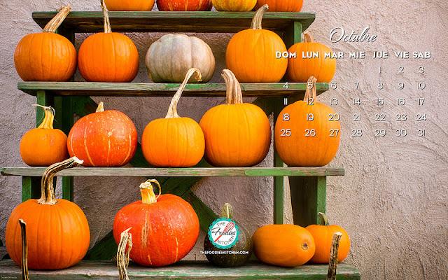 calendario octubre 2015 - The Foodies Kitchen