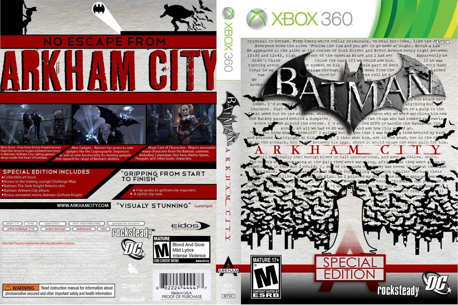 Capa Batman Arkham City Special Edition Xbox 360