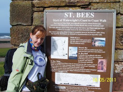 at the start point in St Bee's