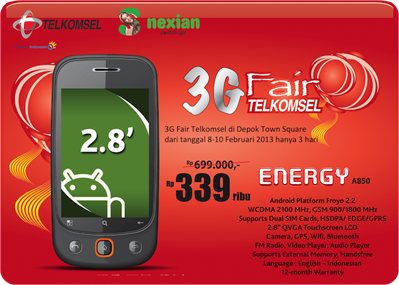 Nexian Energy A850 Telkomsel
