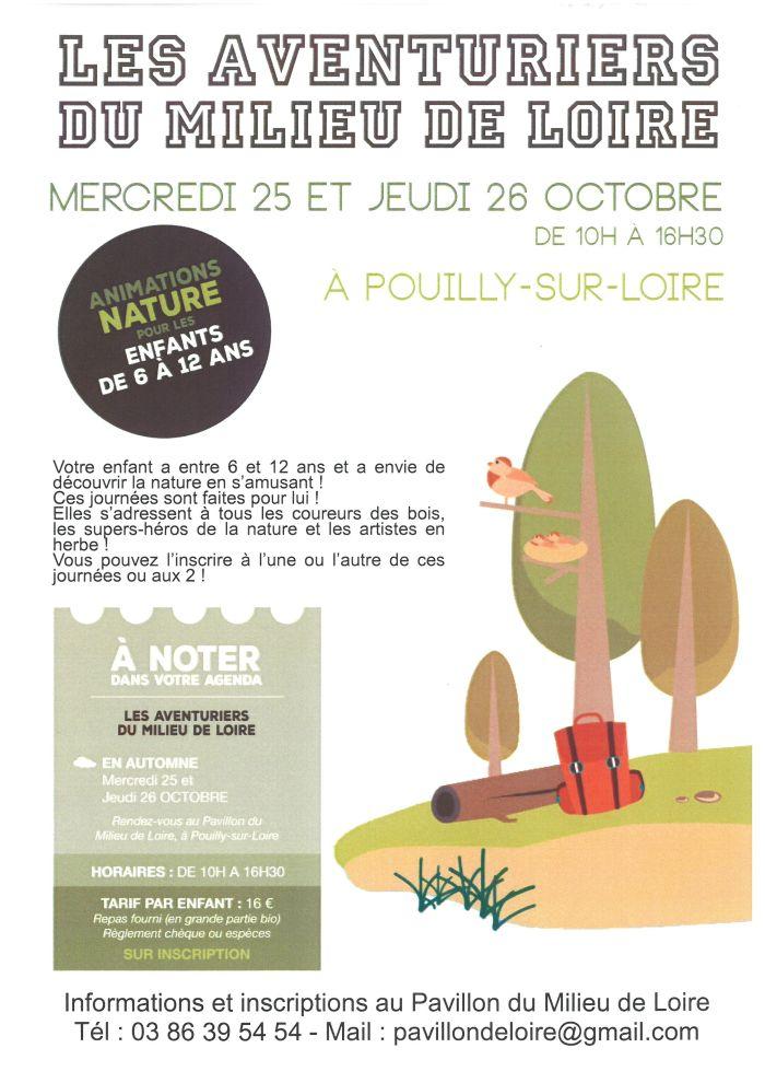 Les aventuriers du milieu de Loire le 25 et 26 octobre de 10h00 à 16h30 à Pouilly-sur-Loire