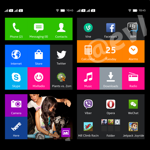 Nokia X UI screenshot