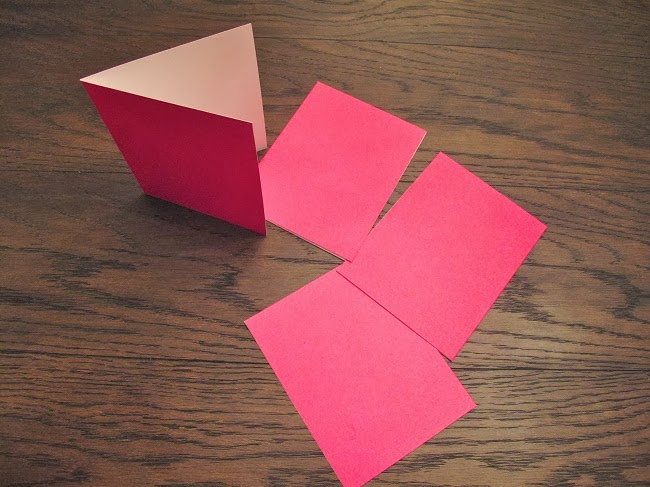 Diy colorblock thank you notes mac marlborough for Spray paint designs with tape