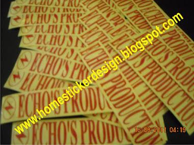 Pengerjaan sticker promosi