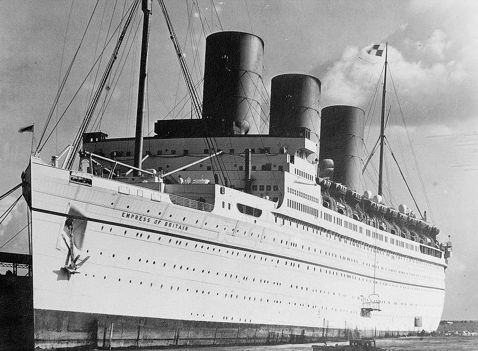 Ocean Superliners The Rms Empress Of Britain Was An Ocean